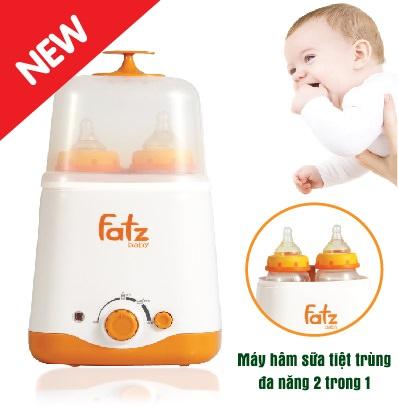 Máy hâm sữa tiệt trùng đa năng 2 bình cổ rộng Fatzbaby (Hàn Quốc) FB3011SL